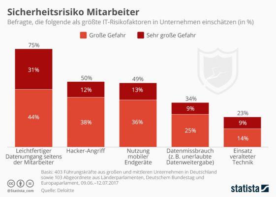 Infografik: Die größten Risiken in der IT-Security.