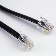 Modularkabel flach RJ10,4P/4C,1:1, 20m