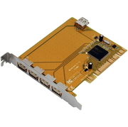 I/O-Karte 4x USB 2.0 ext. + 1x int., PCI