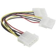 Verbindungskabel Strom Y 2 x13,3cm f-m/m