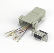 Adapter Modular, DB9/f-RJ45 8P/8C
