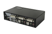 KVM-Switch 1:2 USB,DVI,Audio,HUB+2Kabel