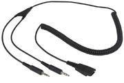 ARP Headset Kabel QD zu 2x 3.5 mm Klinke