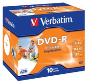 Verbatim DVD-R 4,7GB 16x Inkjet JC(10)