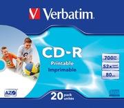 Verbatim CD-R 700MB 52x Inkjet SC(20)