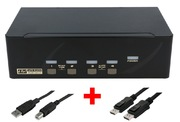 ARP KVM-Switch 1:4 USB, Dual DisplayPort