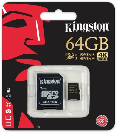 Kingston Gold 64 GB microSDXC